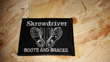 "Aufnäher - Skrewdriver ""Boots and Braces"""